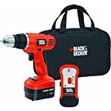 Black & Decker GCO12SFB 12 Volt Ni Cad 3/8 Inch Cordless Drill/Driver with Storage Bag and Stud Sensor