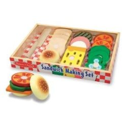Toy / Game Superior M & D Wooden Sandwich-Making Set (513) With Colorful Smooth-Sanded Pieces