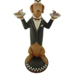 Fat Chef Dog Statue Kitchen Figure Statue Collectible D64406