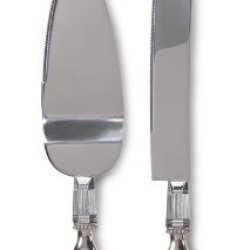 Darice Vl0032, Heart Metal Knife Server Set Boxed Engraved