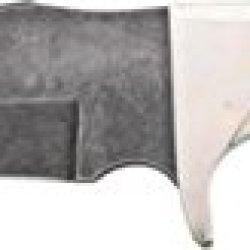 Bear & Son Upswept Skinner Stag Fixed Blade Knife, Damascus Steel Upswept Skinning Blade, 577D
