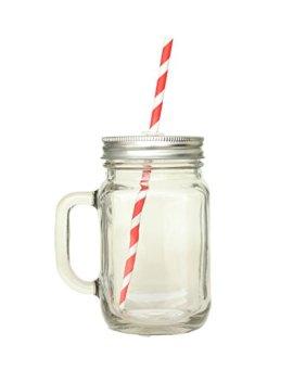 Wiz-Glass-Frasco-de-cristal-con-pajita-420-ml-tapa-y-pajita-de-cartn-duro-con-mango-ideal-para-batidos-y-zumos
