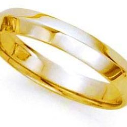 Comfort-Fit Knife Edge Wedding Band In 18K Yellow Gold (4Mm)