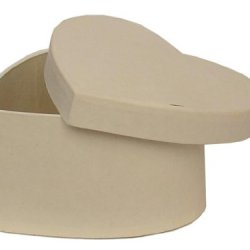 Paper Mache Heart Box 4 1/2 In. Vanilla By Craft Pedlars