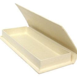 Paper Mache Pencil Box Vanilla 3 1/2 X 9 In. By Craft Pedlars