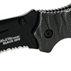 Smith And Wesson Swblop4Bs Black Ops 4 M.A.G.I.C. Assist Liner Lock Black 4034 Stainless Steel