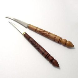 Set Of Fruit And Vegetable Carving Knives / Thai Cutter With Wood Handle Tool