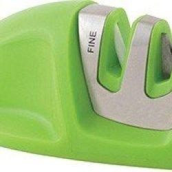 Kitcheniq Manual Edge Grip 2 Stage Knife Sharpener (Green)