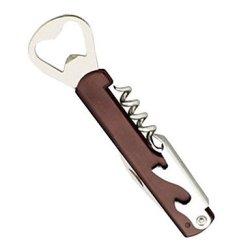 """6"""" Wooden Handle Folding Wine Corkscrew Bottle Opener Cutter Knife"""