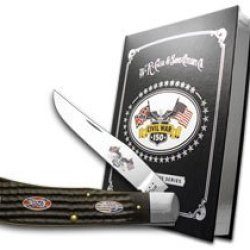Case Xx Civil War Book Set Volume 3 Battle Of Shiloh New Black Backpocket Pocket Knife Knives