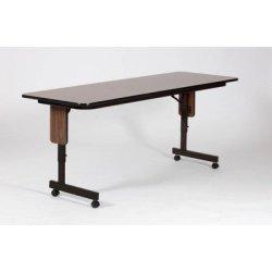 "Rectangular Folding Table Finish: Walnut, Size: 96"" W X 24"" D"