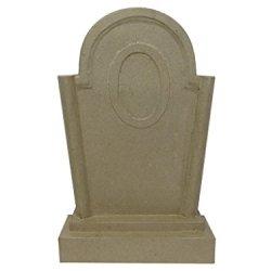 Paper Mache Tombstone 13 1/2 In. By Craft Pedlars