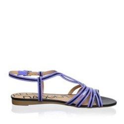 Kelsi Dagger Women'S Ferida Strappy Sandal Size 6 (Black/Cobalt)