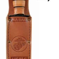 Kb1250S - Kabar - Brown Leather Sheath- Usmc Logo - Fits 1250-1252