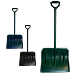 Plastic Snow Shovels, Assorted Colors - Case Of 12