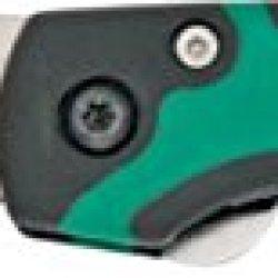 Bear & Son Sideliner Green & Black Fold Knife, Ss Partially Serrated Edge Blade, Black 7404Gsr