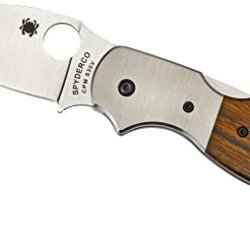 Spyderco Sage Wood With Titanium Bolsters Plain Edge Knife