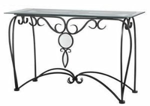 Image of Cal Lighting TA-2081CST Winsor Iron Console Entry Table (TA-2081CST)
