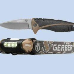 Gerber 31-002406 Myth Hunting Pocket Folding Knife And Headlamp Set, 2-Piece