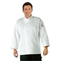 "Orlando Unisex White Chefs Tunic Polycotton. Colour: White. Size: Xl (To Fit Chest 48-50"")."