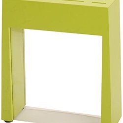 Gela Global Counter Block Knives With See Thru Window, Green