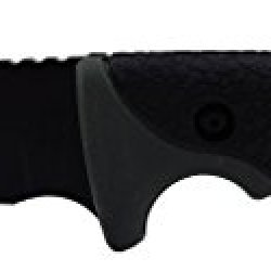 3Oaks Professional Skinning Knife With Ballistic Sheath, Gut Hook, Talgon Hard Rubber Handle For Grip & Comfort, 440 Stainless Surgical Steel,