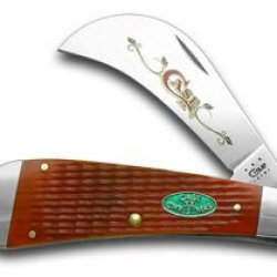 Case Xx Red Jigged Bone Christmas 1/600 Hawkbill Pocket Knife Knives