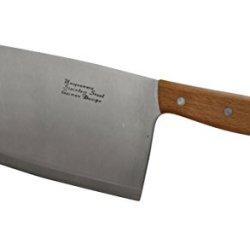 "Cucina Bella Stainless Steel Heavy Duty Cleaver - 9"" X 4.5"" Blade"