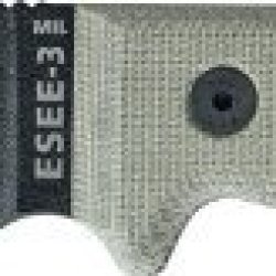 Esee Knives Model 3Mil-S-Cp Military Partial Serrated Black Edge / W Green Canvas Micarta Handles