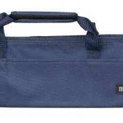 Messermeister 5-Pocket Padded Knife Roll, Navy