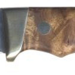 Schrade Ph2W Desert Iron Wood Handle, Nickel Bolster Fixed Blade With Sheath