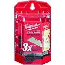 Milwaukee 48-22-1954 50 Pc Carton Utility Knife Blades W/ Dispenser