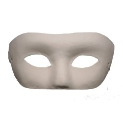 Paper Mache Half Mask