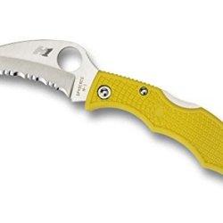 Spyderco Ladybug3 Frn H-1 Hawkbill, Yellow