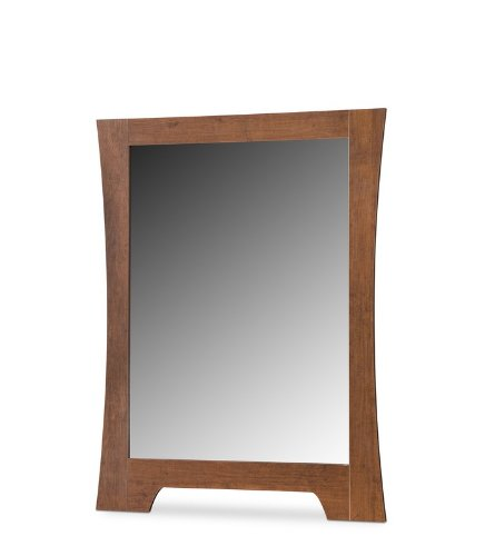 Image of Kids Dresser Mirror Transitional Style in Classic Cherry Finish (AZ00-56759x25546)
