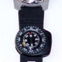 Wrist Watch Band Clip On Compass