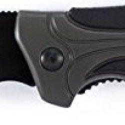 Schrade Sch205 Liner Lock Black Fully Honed Folding Knife