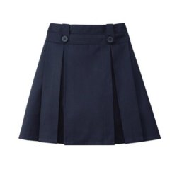 Windstan Girls Knife And Box Pleated Skort 6X Navy