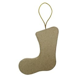 Paper Mache Flat Stocking Ornament By Craft Pedlars