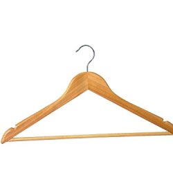 Shaped Hanger With Round Bar In Lotus Wood Notches