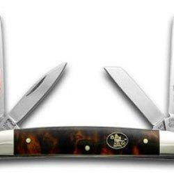 Steel Warrior Imitation Tortoise Shell Congress Pocket Knife Knives