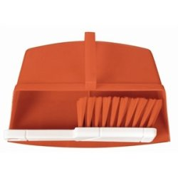 Jantex Colour Coded Brush Red. White Handle With Coloured Bristles. Pan Sold Separately.
