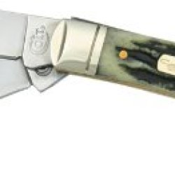 Colt Knives 245 Small Muskrat Pocket Knife With Genuine Black Stag Handles