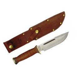 Ontario Knife P3 Army Quartermaster Knife, Brown/Silver