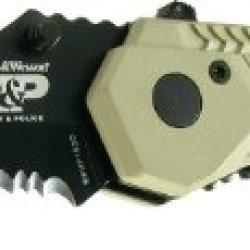 Smith & Wesson Swmp1Bsd Military And Police Knife With Magic Assist Open, Black Scooped Back Blade And Camo Handle