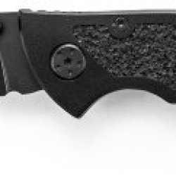 Schrade Sch202S Partially Serrated Stainless Steel Drop-Point Blade Folding Knife