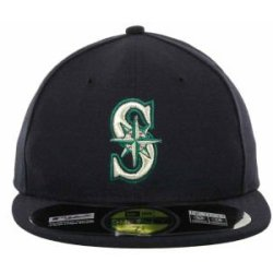 Seattle Mariners Mlb Authentic Baseball Cap 7-3/8 Osfa - Like New