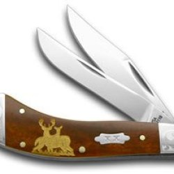 Case Xx Buck And Doe Smooth Chestnut Bone Scrolled Bolster 1/500 Pocket Knife Knives