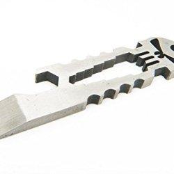 Verany Versatile Tool Multi Function Pocket Survival Tool Keychain Bottle Opener Edc (Silver)