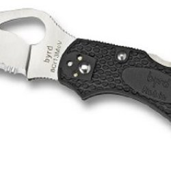 Spyderco Byrd Robin2 Black Frn Spyderedge Knife